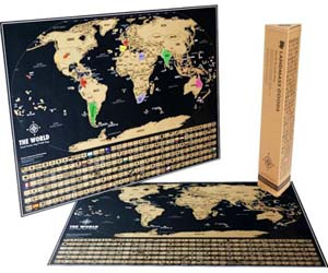 Gift Ideas For Travel Lovers | Travel Tracker Map | Travel Lovers Wish List