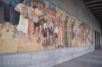Detlev-Rohwedder-Haus Communist Mural in Berlin