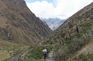 Hiking up Dead Woman's Pass on the Inca Trail