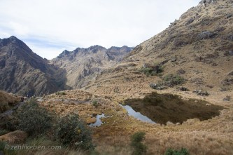 Snow melt lake on the Inca Trail
