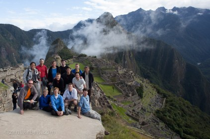 Group shot in front of Machu Picchu