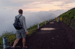Along the trail up to Mount Fuji