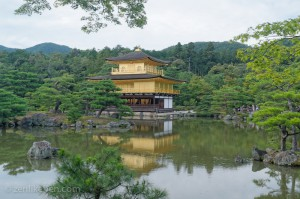 Kinkaku-ji, the Temple of the Golden Pavilion in Kyoto Japan