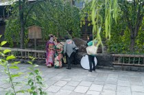 A photo shoot of Geisha in Kyoto