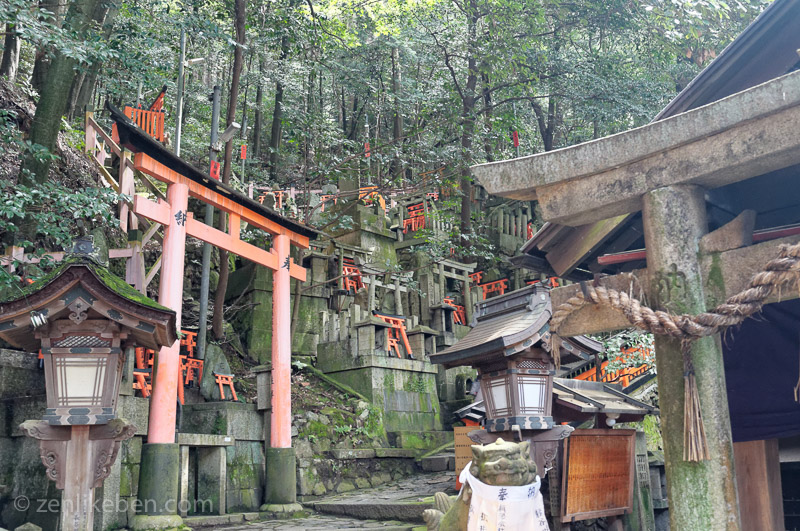 One of the many sub shrines at Fushimi Inari-taisha