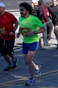 Although my friends and family are yelling at me like crazy, I'm really smiling because the finish is just within sight.