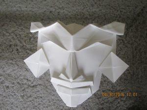 origami mascara inca blanca