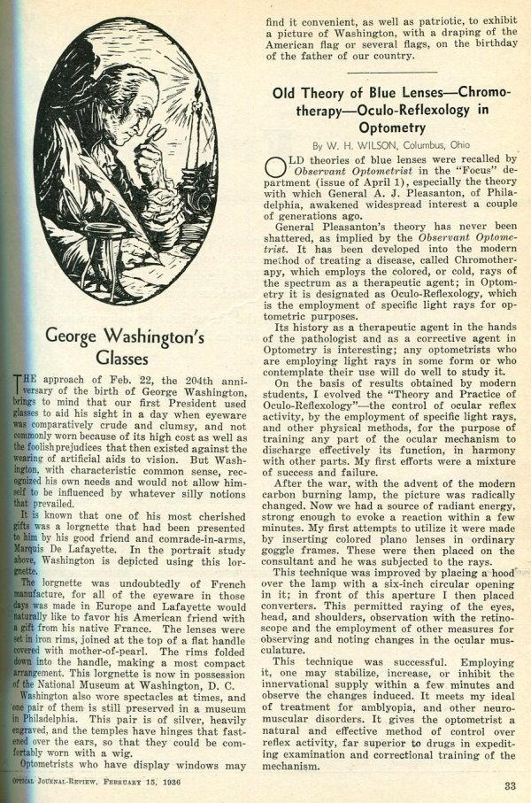 George Washington Glasses