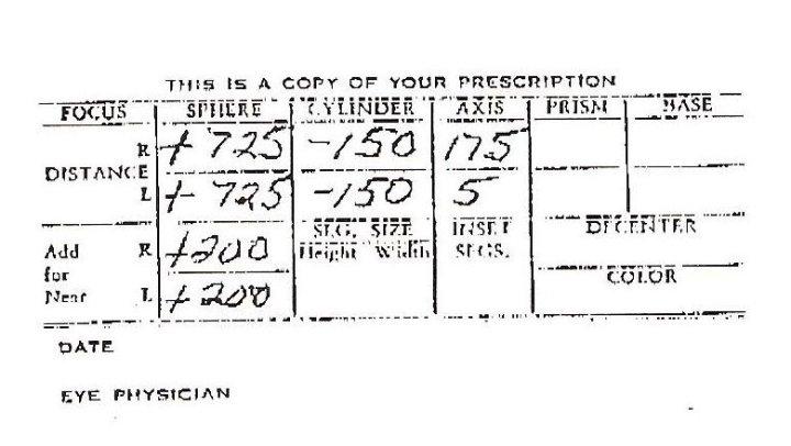 President Harry Truman Eye Prescription