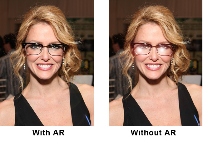 Before and After Anti-Reflective Coating for Glasses   Zenni Optical