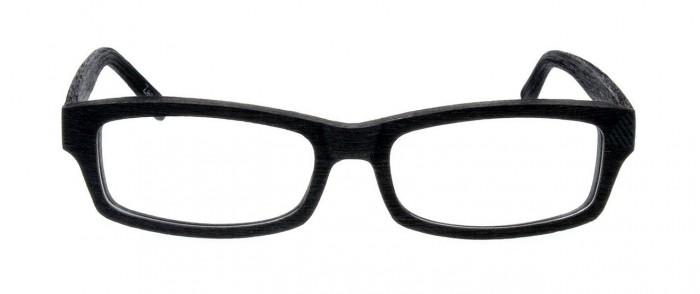 black plastic rectangular glasses