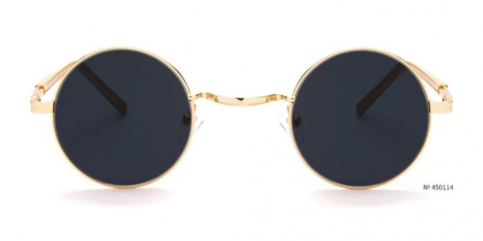 festival gold round sunglasses