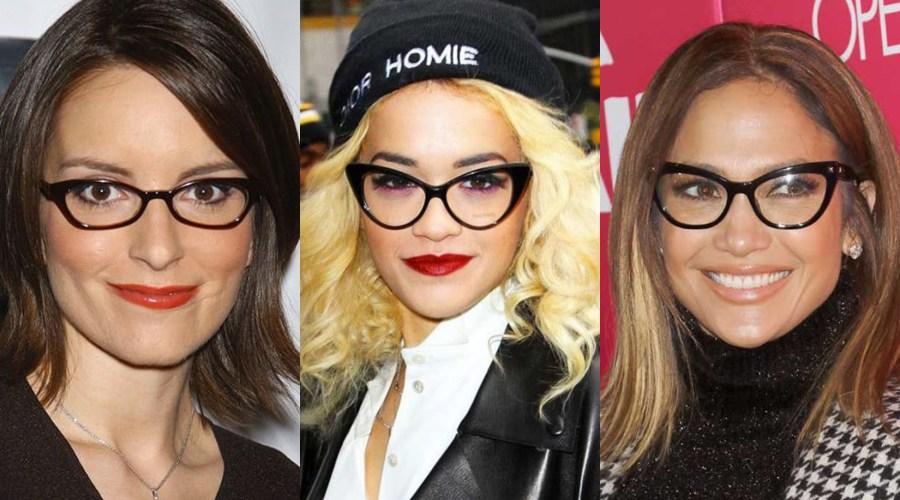 dramatic cat eye glasses