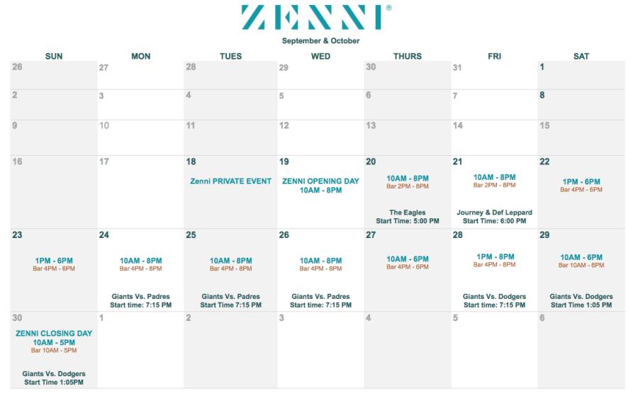 Zenni Eyewear Lounge Pop-Up SF Calendar