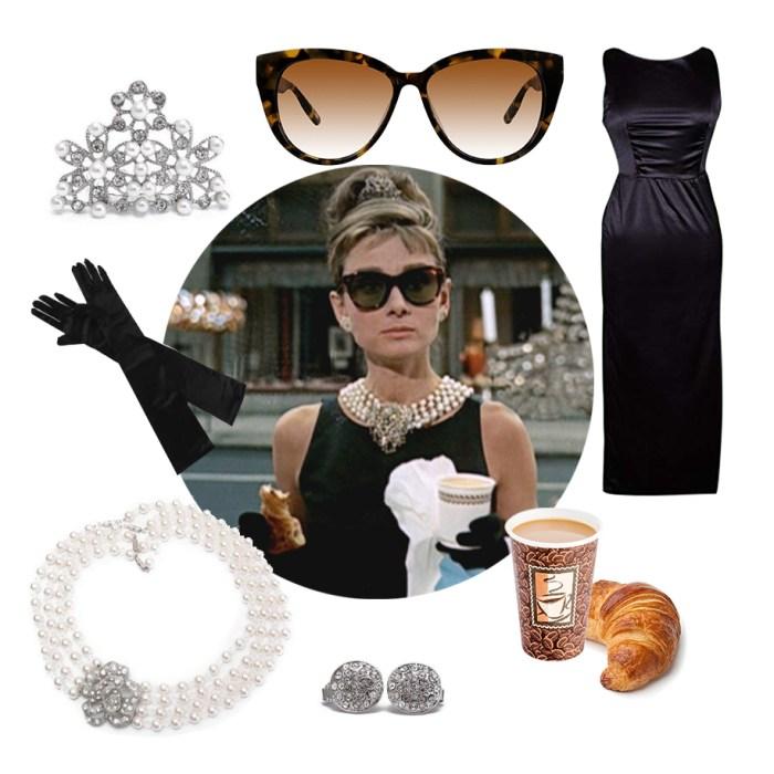 Audrey Hepburn costume idea accessories