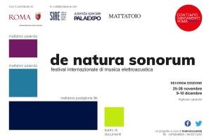 DE NATURA SONORUM Festival internazionale di musica elettroacustica seconda edizione