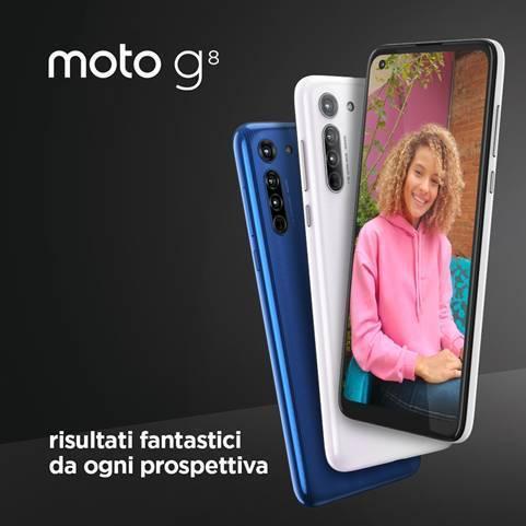 Moto g8: risultati fantastici. Da ogni prospettiva.