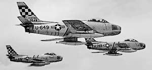 USAF FJ Fury jet fighter aircraft.