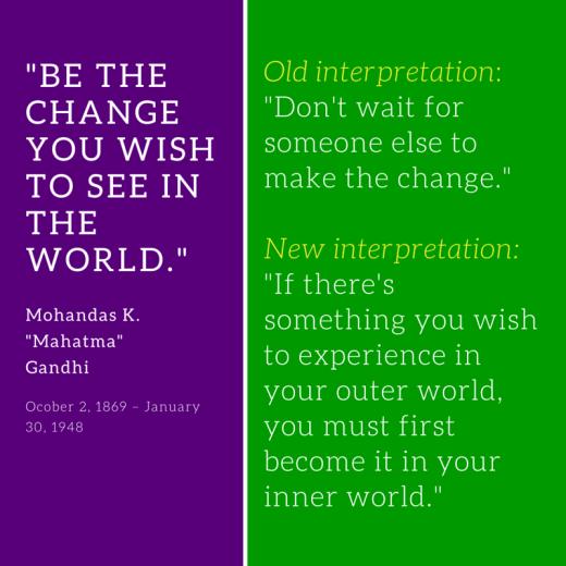 be the change reinterpreted