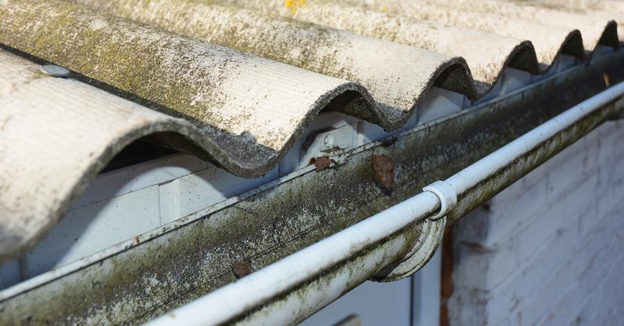 asbestos roof guttering