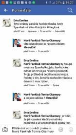 falešné profily Tomia odkud psali rasistické zprávy