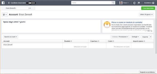 Come Gestire Facebook Ads di un Cliente-Pagina Iniziale