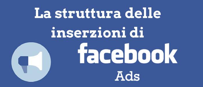 La struttura delle inserzioni di Facebook Ads