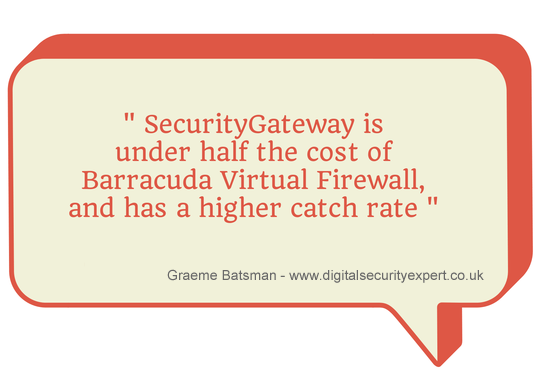 SecurityGateway quote from Graeme Batsman