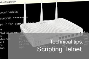 Scripting telnet commands for a Draytek Vigor router | Zen