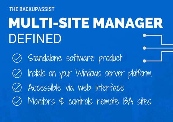 BackupAssist MultiSite Manager Defined
