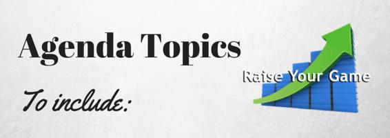 agenda topics