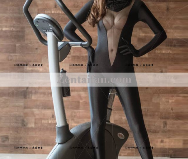 Sexy Black Upgraded Spandex Full Body Female Zentai Suit Larger Image