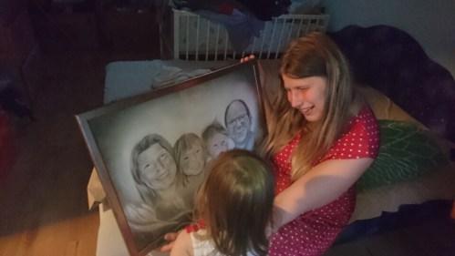 családi portré rajz