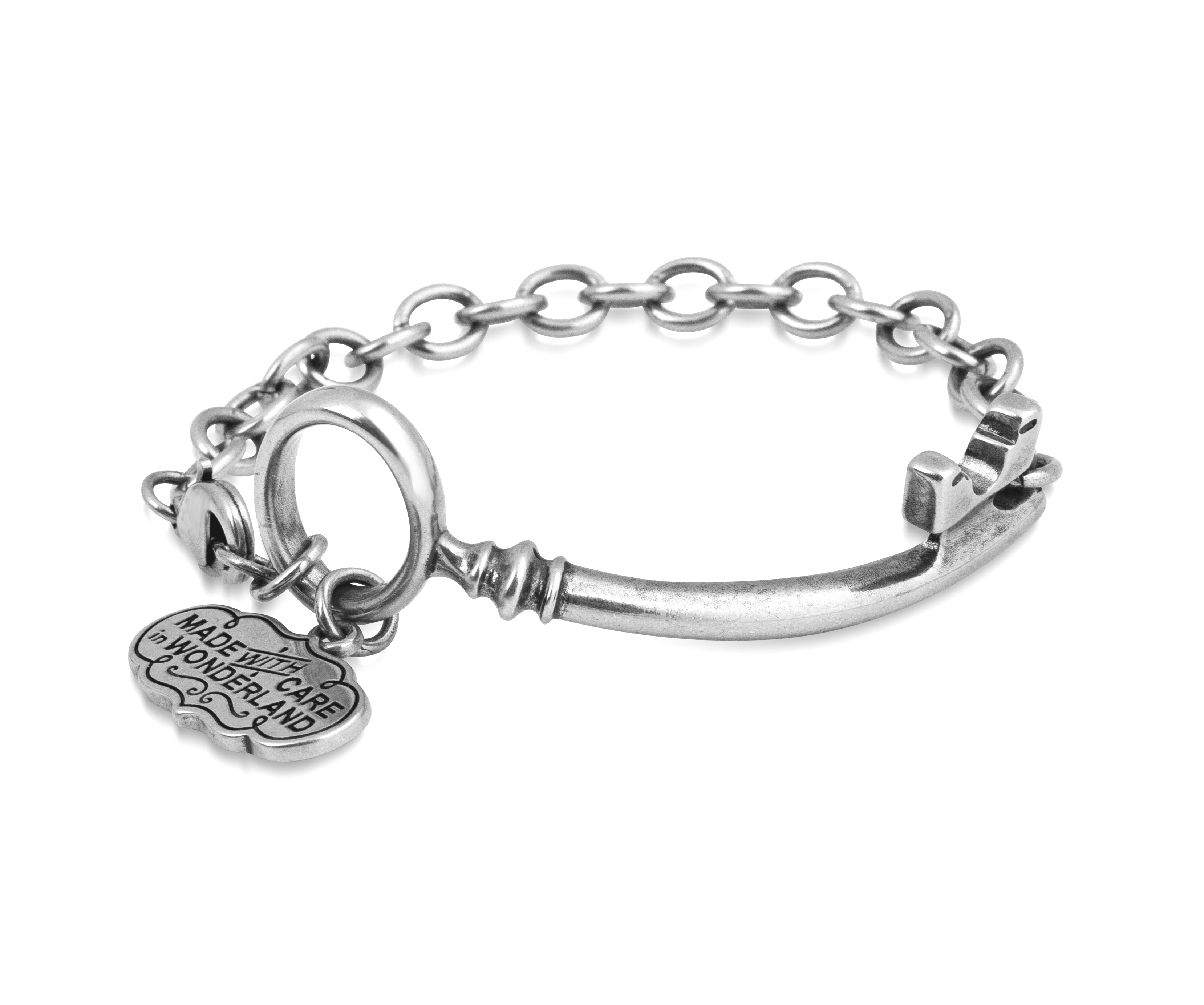 Disney Couture Alice In Wonderland Silver Curved Key
