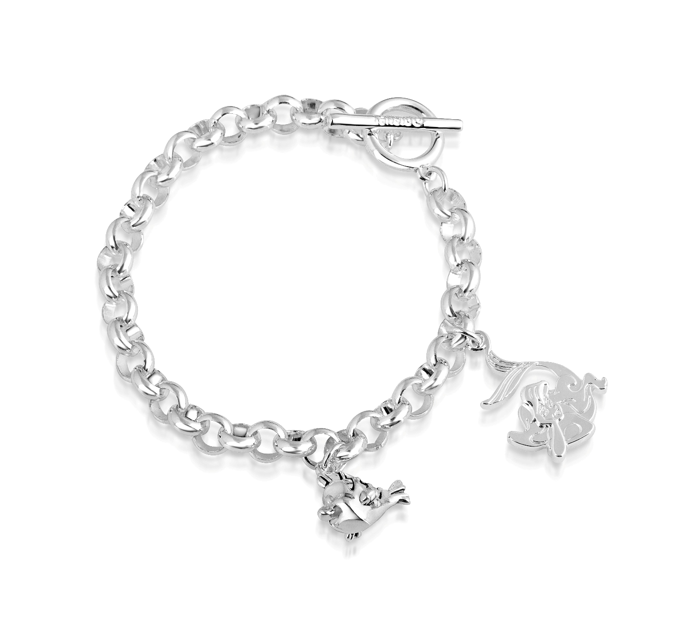 Disney Couture White Gold Plated Little Mermaid Flounder