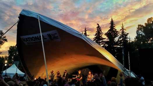 Sunset at Calgary Folk Fest