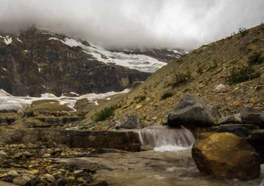 Streams from Melting Glaciers in Yoho National Park