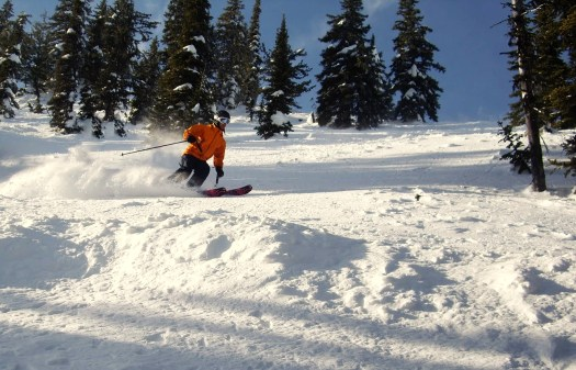 Shredding some of the great terrain at Fernie