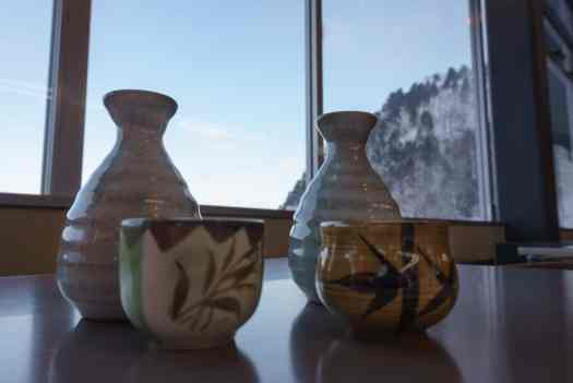 Warm Sake after a cold day skiing.