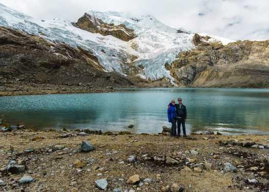 The views on Akilpo Ishinca Huaraz Peru