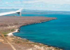 Landing at Baltra Airport on the Galapagos Islands!