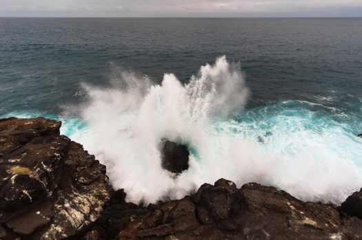 San Cristobal DIY Hike - Waves Splashing