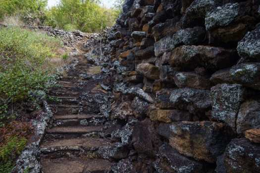 The Wall of Tears, a remnant of Galapagos Island's history as a penal colony