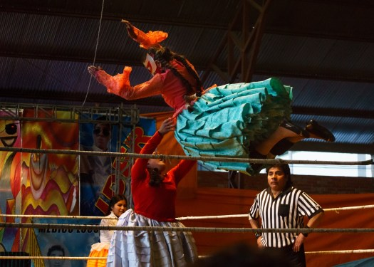 Cholitas Wrestling in Bolivia