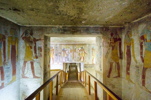 Walking into a Tomb at the Valley of the Kings