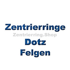 Zentrierring für Dotz Felgen
