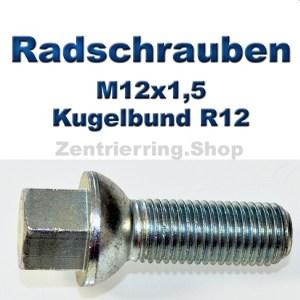 Radschrauben M12x1,5 mit Kugelbund R12