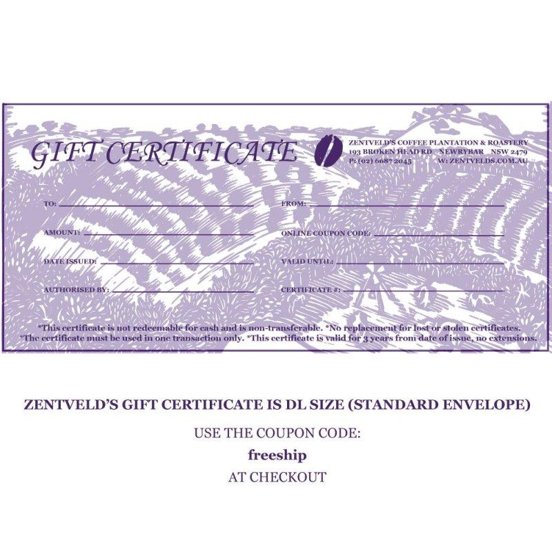 Zentveld's Gift Certificate