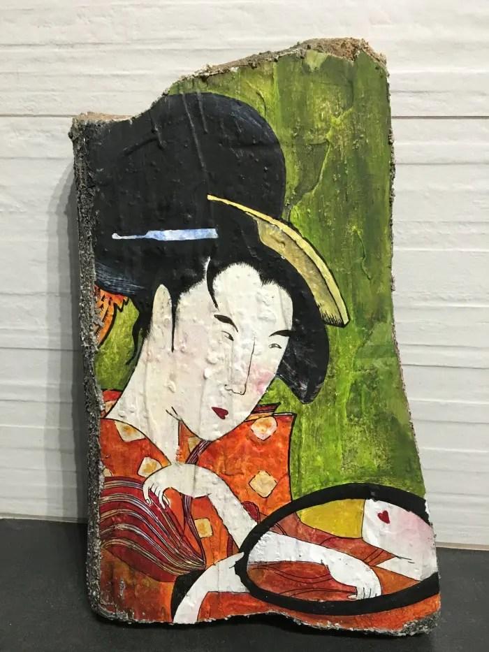 Green Japanese Woman