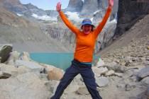 Patagonia Karen in front of Las Torres